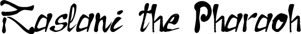 Raslani the Pharaoh Font