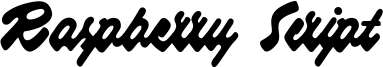 Raspberry Script Font