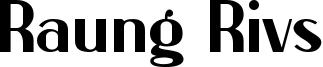 Raung Rivs Font