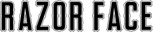 Razor Face Font