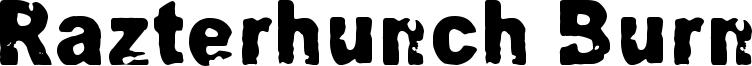 Razterhunch Burn Font
