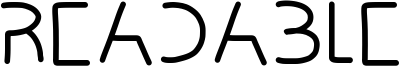 Readable Font