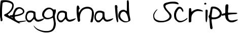 Reaganald Script Font