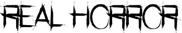 Real Horror Font