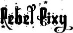 Rebel Pixy Stars - Free.otf