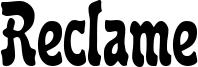 Reclame Font