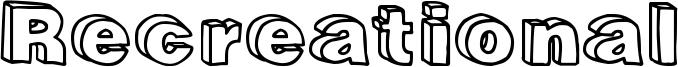 Recreational Font
