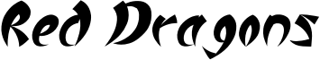 Red Dragons Font