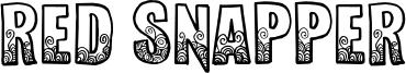 Red Snapper Font