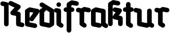 Redifraktur Font
