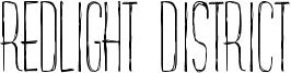 Redlight District Font