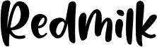 Redmilk Font