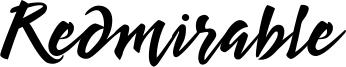 Redmirable Font