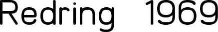 Redring 1969 Font