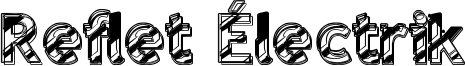 Reflet Électrik Font