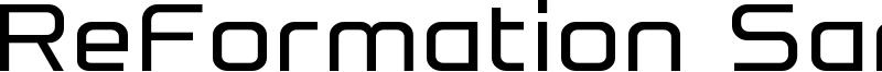 ReFormation Sans Font