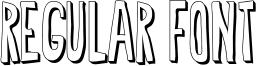 Regular Font Font