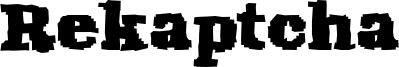 Rekaptcha Font
