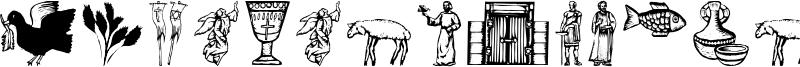 Religious Symbols Font