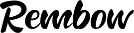 Rembow Font