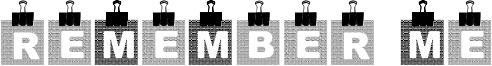 Remember Me Font
