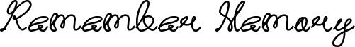 Remember Memory Font
