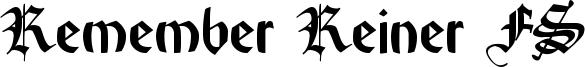 Remember Reiner FS Font