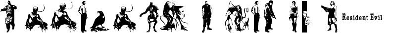 Resident Evil Characters Font