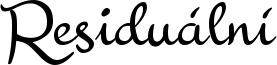 Residuální Font
