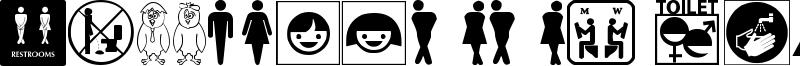 Restroom Signs TFB Font