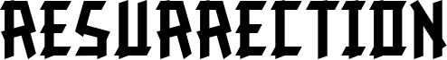 Resurrection Font