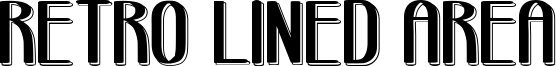 Retro Lined Area Font