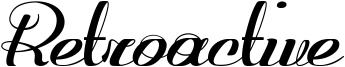 Retroactive Font