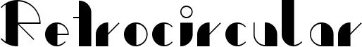 Retrocircular Font