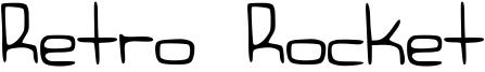 Retro Rocket Font
