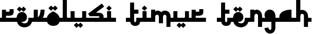Revolusi Timur Tengah Font