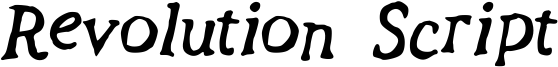 Revolution Script Font