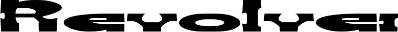 Revolver Gun Font
