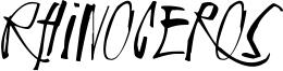 Rhinoceros Font