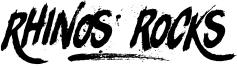 Rhinos rocks Font
