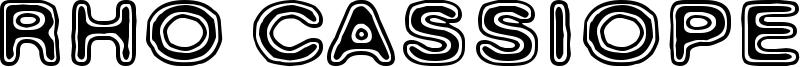 Rho Cassiopeiae Font