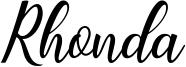 Rhonda Font