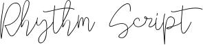Rhythm Script Font
