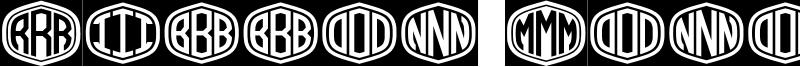 Ribbon Monogram Font