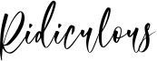 Ridiculous Font