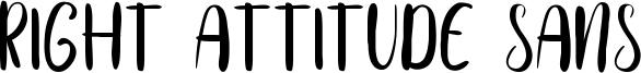 Right Attitude Sans Font