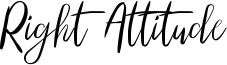 Right Attitude Font