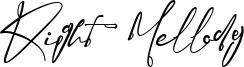 Right  Mellody Font