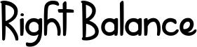 Right Balance Font