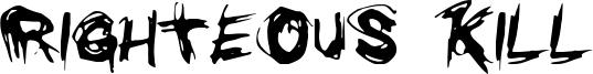 Righteous Kill Font